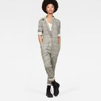 G-Star RAW® Avernus Racer Jumpsuit Beige model front