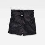 G-Star RAW® Rovic High waist Paperbag Shorts Black model front