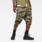 G-Star RAW® Rovic Relaxed 1/2-Length Shorts Green model front