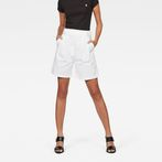 G-Star RAW® Bristum Pleated High waist Bermuda Shorts White model front