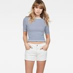 G-Star RAW® Raw Correct Silber Cropped T-Shirt White model front
