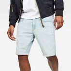 G-Star RAW® 3301 Slim 1/2-Length Shorts Light blue front flat