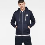 G-Star RAW® Core Zip-Hooded Zip Sweater Dark blue model front