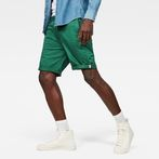 G-Star RAW® Bronson 1/2-Length Shorts Green model front