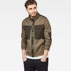 G-Star RAW® Type C Utility Tone-Mix Overshirt Green model front