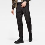 G-Star RAW® Bronson Pleated Relaxed Tapered Chino Black model front
