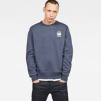 G-Star RAW® Doax Sweater Dark blue model front