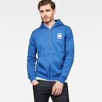 G-Star RAW® Doax Hooded Zip Thru Sweat Medium blue model front