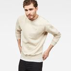 G-Star RAW® Lyl Strett Deconstructed Sweater Beige model front