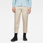 G-Star RAW® Bronson Pleated Relaxed Tapered Chino Beige model front