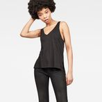 G-Star RAW® Dyv Pocket Straight Deep V-Neck Singlet Black model front