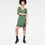 G-Star RAW® Joosa V-Neck Dress Green model front
