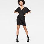 G-Star RAW® Joosa V-Neck Dress Black model front