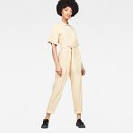 G-Star RAW® Bristum Deconstructed Jumpsuit Beige model front