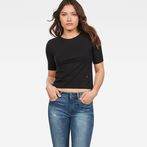 G-Star RAW® Silber Cropped T-Shirt Black model front