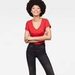 G-Star RAW® 14 Slim V-Neck T-Shirt Red model front