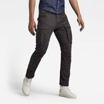 G-Star RAW® Rovic Zip 3D Straight Tapered Pants Grey model front