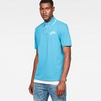 G-Star RAW® 28 Art Polo Medium blue model front