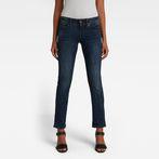 G-Star RAW® Midge Saddle Mid Waist Straight Jeans Dark blue