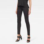 G-Star RAW® Midge Zip Mid-Waist Skinny Jeans Black