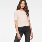 G-Star RAW® Silber Cropped T-Shirt Pink model front
