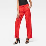 G-Star RAW® Lanc Mid Waist Straight Slit Pant Red model front