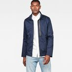 G-Star RAW® Rackam Utility Tone-Mix Overshirt Dark blue model front
