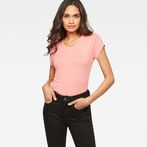 G-Star RAW® Liixa Slim T-shirt Pink model front