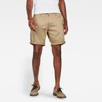 G-Star RAW® Bronson Straight 1/2-Length Shorts Beige model front