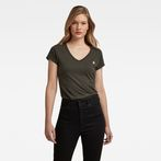 G-Star RAW® Eyben Slim V-Neck T-Shirt Grey model front