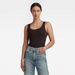 G-Star RAW® Base Round Neck TankTop Black model front