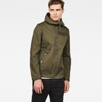 G-Star RAW® Batt Hooded Overshirt Green model front