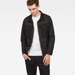 G-Star RAW® Type C Utility Tone-Mix Overshirt Black model front