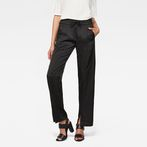 G-Star RAW® Lanc Mid Waist Straight Slit Pant Black model front