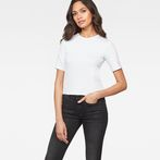 G-Star RAW® Silber Cropped T-Shirt White model front