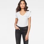 G-Star RAW® 14 Slim V-Neck T-Shirt White model front