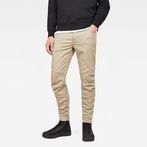 G-Star RAW® Motac Deconstructed 3D Slim Pants Beige model front
