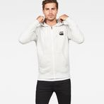 G-Star RAW® Core Zip-Hooded Zip Sweater White model front