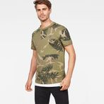 G-Star RAW® Graphic Hawaii Camo Relaxed T-Shirt Green model front
