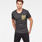 G-Star RAW® Hawaii Camo Kantano Slim T-shirt Grey model front