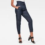 G-Star RAW® Rovic High waist Paperbag Pants Dark blue model front