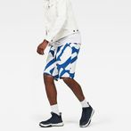G-Star RAW® Hyce Relaxed Sweater Shorts Medium blue model front