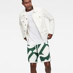 G-Star RAW® Hyce Relaxed Sweater Shorts Green model front