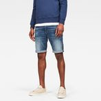 G-Star RAW® 3301 Slim 1/2-Length Shorts Medium blue front flat