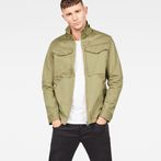 G-Star RAW® Deline Overshirt Green model front