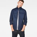 G-Star RAW® Deline Overshirt Dark blue model front