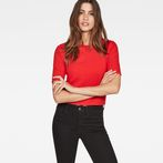 G-Star RAW® Silber Cropped T-Shirt Red model front