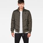 G-Star RAW® Whistler Meefic Quilted Bomber Grey model front
