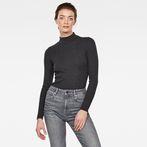 G-Star RAW® Xinva Slim Funnel T-Shirt Grey model front