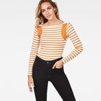 G-Star RAW® Zovas Slim Boatneck Orange model front